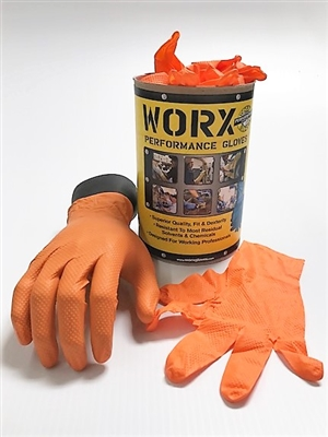 Orange 7 mil Nitrile Gloves 50pk