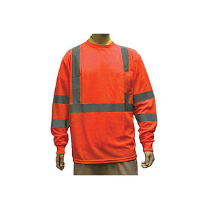 Orange Hi Viz Long Sleeve T- Shirts