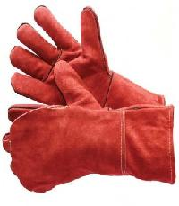Red Leather Welding Glove