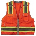 Orange Class II safety Vests
