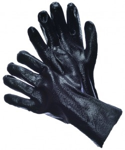 Black PVC Supported Glove