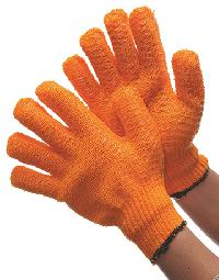 Orange String Knit honey comb with PVC coating 12 pair