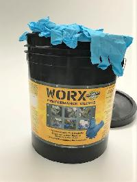 Jumbo Bucket - Professional Blue 4mil Nitrile Job site