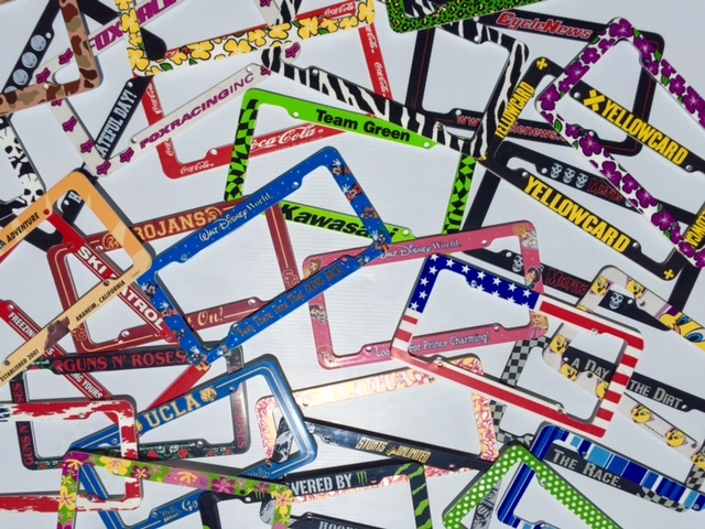 PL8MATE Custom Printed License plate frames