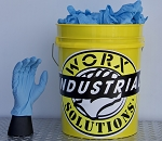 Jumbo Bucket - BLUE NITRILE 8MIL THICK GLOVES 500pc