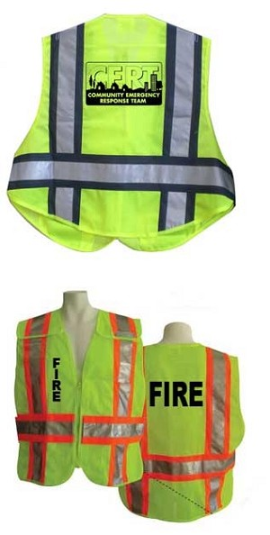 Custom Screen Printing on safety Vests (see details)