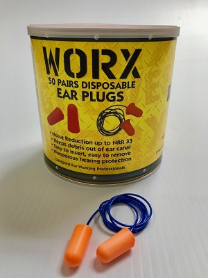 Worx Corded Foam Ear Plugs 50pair